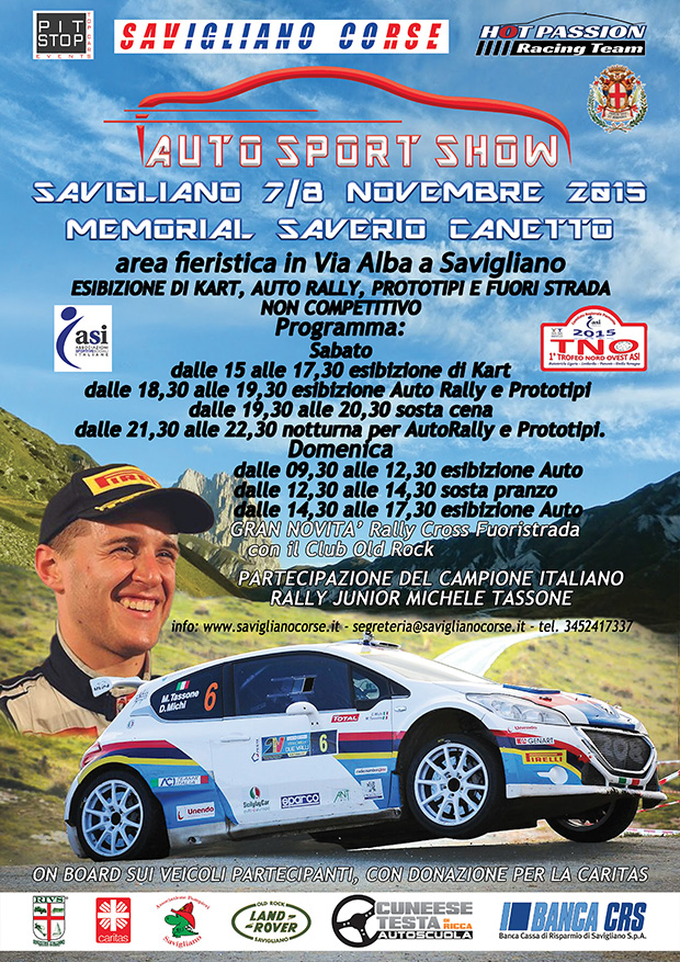 AUTO SPORT SHOW - MEMORIAL SAVERIO CANETTO
